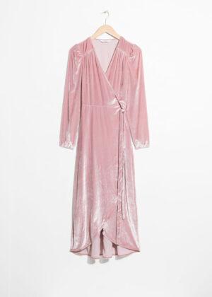 Elegant pink midiklänning.