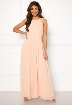 Vacker rosa långklänning från AX Paris med dragkedja.