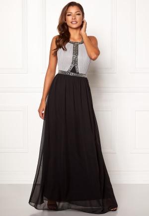 Black  chiffongklänning med dragkedja från Chiara Forthi.