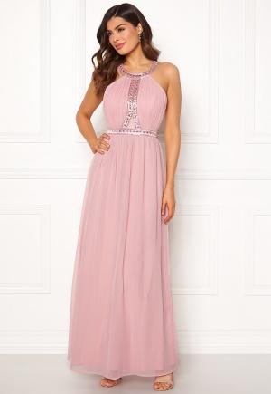 Tidlös rosa maxiklänning i silke.