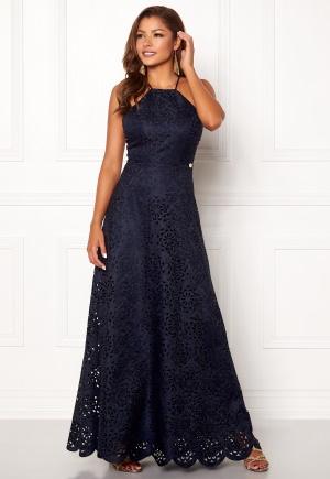 Läcker blå omlottklänning från Chiara Forthi med dragkedja.