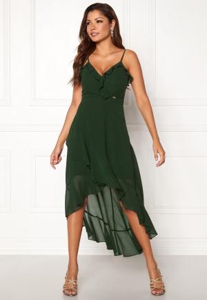 Fabulös grön omlottklänning i silke.