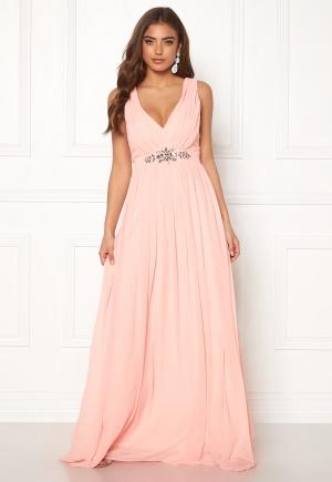 Soft pink klänning med dragkedja med dragkedja från Goddiva.