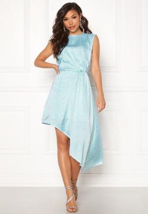 Fabulös blå klänning med dragkedja.