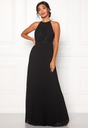 Fantastisk svart klänning med dragkedja i spets.