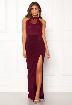 Snygg röd klänning med dragkedja från Moments New York med dragkedja.