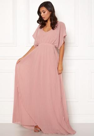 Förtrollande söt rosa plisserad klänning från Moments New York med dragkedja.