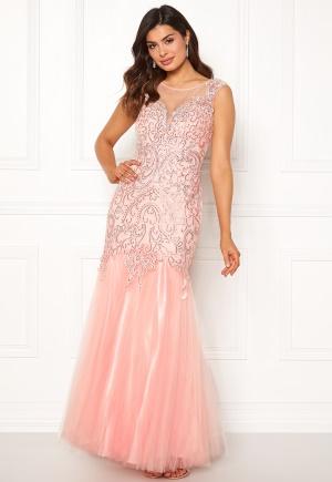 Sjukt söt rosa klänning med dragkedja i paljetter.