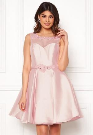 Sexig rosa elegant klänning från SUSANNA RIVIERI med dragkedja.