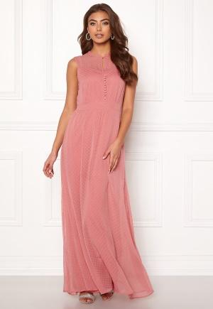 Klassisk rosa långklänning.