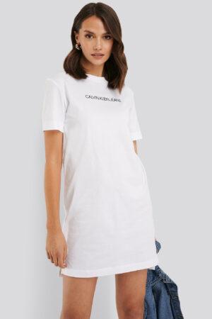 Calvin Klein T-Shirtklänning - White