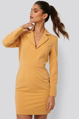 Jldrae x NA-KD Festlig Kostymklänning - Yellow