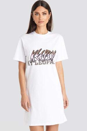 Karo Kauer x NA-KD Keepin It T-shirt Dress - White