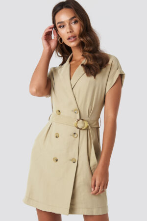 MANGO Basel Dress - Green