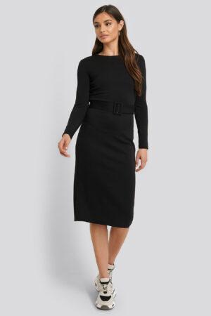 MANGO Midiklänning - Black