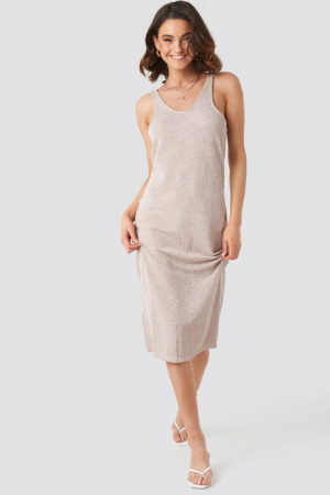 MANGO Rusi Dress - Beige