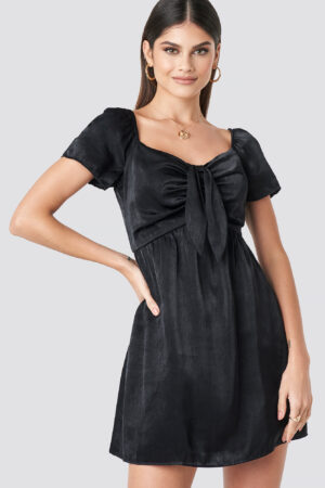 Milena Karl x NA-KD Knot Mini Dress - Black