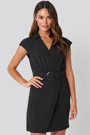 NA-KD Belted Mini Dress - Black