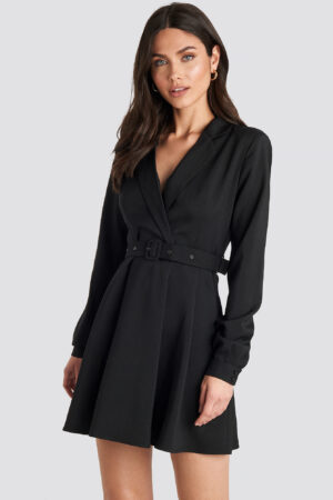 NA-KD Party Blazer Belted Mini Dress - Black