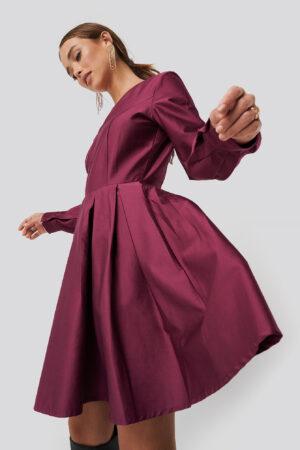 NA-KD Party Box Pleat Mini Dress - Pink