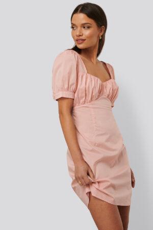 NA-KD Trend Miniklänning Med Puffärmar - Pink