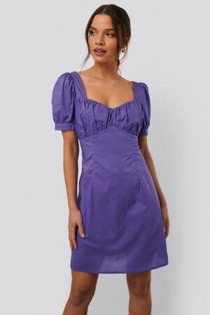 NA-KD Trend Miniklänning Med Puffärmar - Purple