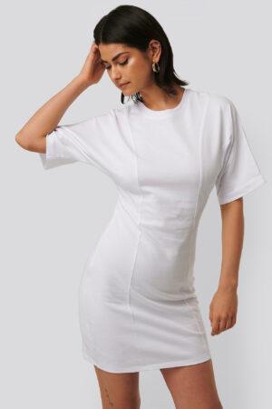 NA-KD T-Shirtklänning - White