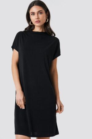 NA-KD Jersey Cap Sleeve Dress - Black