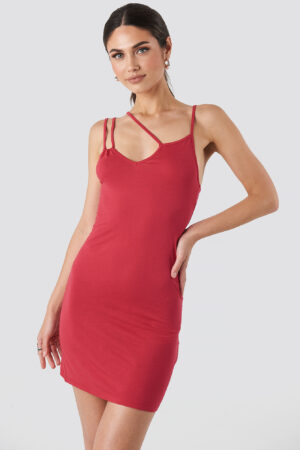 NA-KD Party Multi Strap Cami Mini Dress - Red
