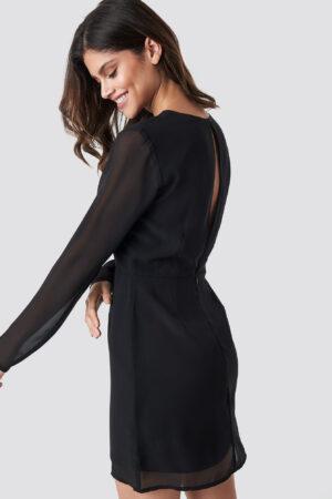 NA-KD Open Back Short Dress - Black