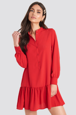 NA-KD Trend Solid Mini Dress - Red