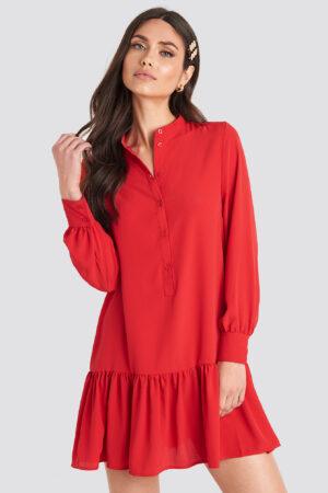 NA-KD Trend Solid Mini Dress - Red