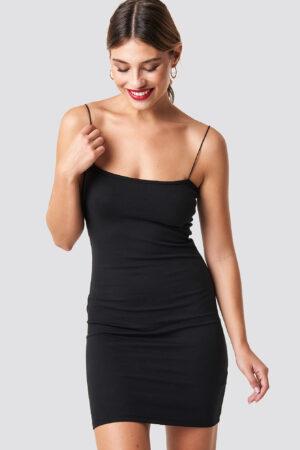 NA-KD Spaghetti Strap Dress - Black