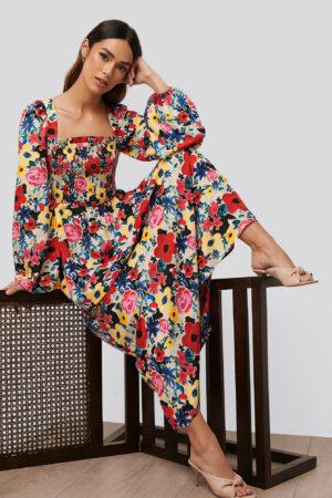 NA-KD Trend Miniklänning Med Blommigt Tryck - Multicolor