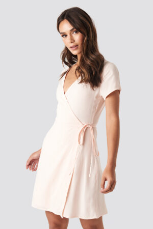 NA-KD Wrap Mini Dress - Pink