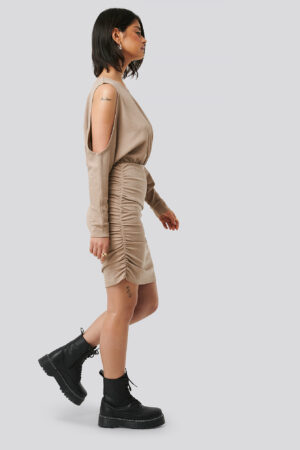 Olivia Salo x NA-KD Miniklänning - Beige