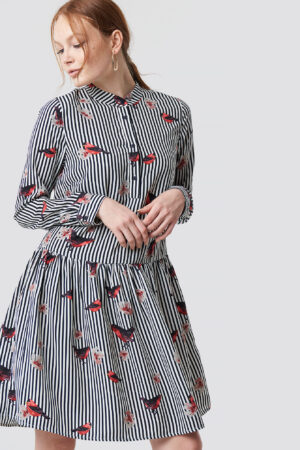 Rut&Circle Flower Stripe Dress - Multicolor
