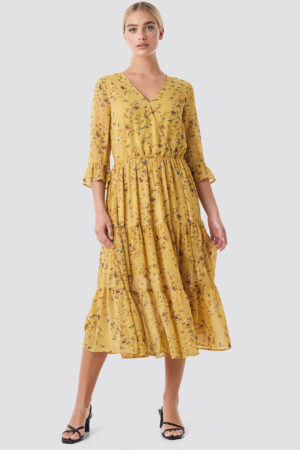 Rut&Circle Panel Maxi Dress - Yellow