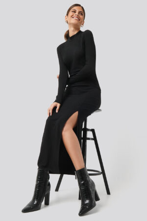 Sparkz Caitlin Long Dress - Black