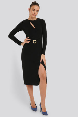 Trendyol Accessory Detail Dress - Black