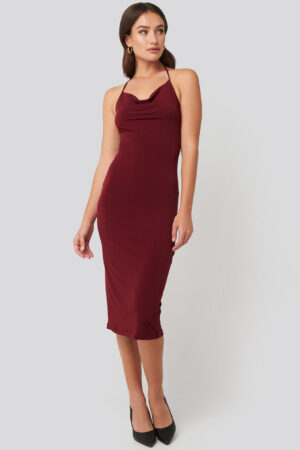 Trendyol Back Slit Midi Dress - Red