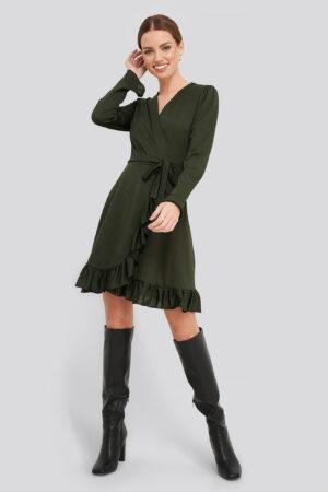 Trendyol Binding Detailed Dress - Green