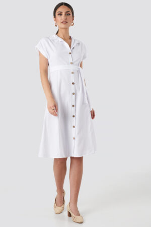 Trendyol Binding Detailed Shirt Dress - White