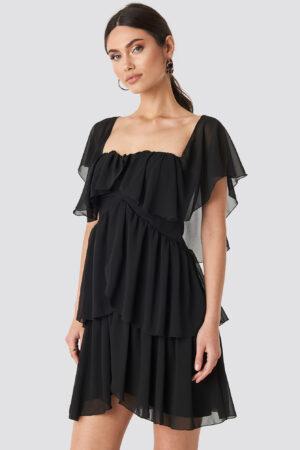 Trendyol Carmen Neckline Mini Dress - Black