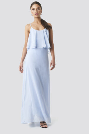 Trendyol Flywheel Long Dress - Blue