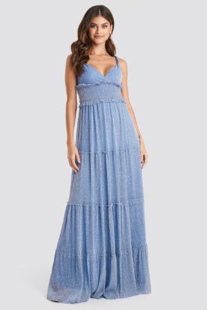 Trendyol Guipure Evening Dress - Blue