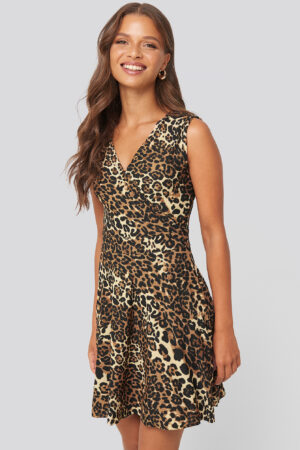 Trendyol Leopard Pattern Mini Dress - Multicolor
