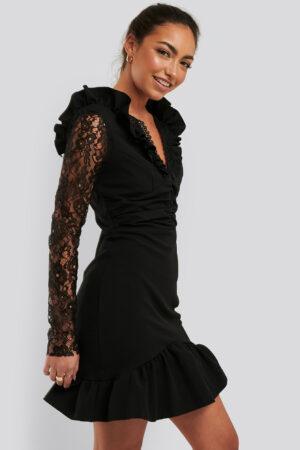 Trendyol Miniklänning I Spets - Black