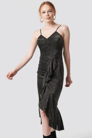 Trendyol Luminous Midi Dress - Grey
