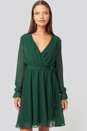 Trendyol Mesh Contrast Mini Dress - Green